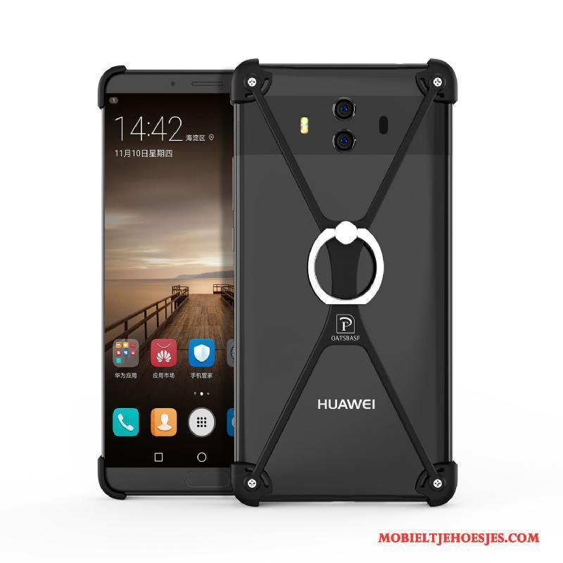 Huawei Mate 10 Hoesje Omlijsting Trend Hoes Metaal Bescherming Scheppend Ring