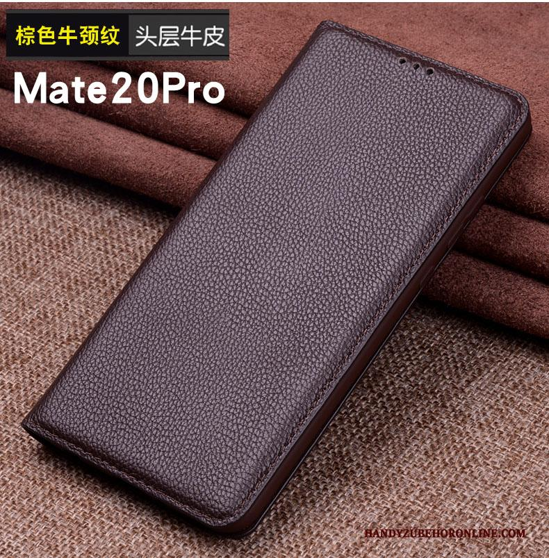 Huawei Mate 20 Pro Hoes Hoesje Bescherming Leren Etui Mobiele Telefoon