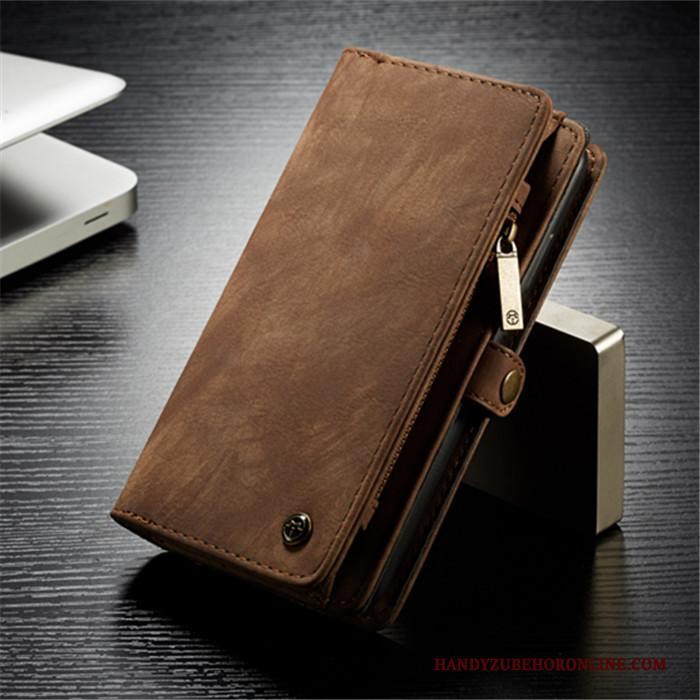 Tas Portemonnee.Huawei P20 Hoesje Folio Kaart Leren Etui Kaart Tas Portemonnee Rood