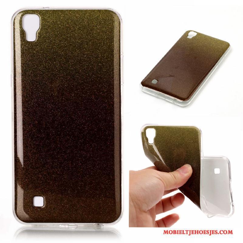 Lg X Power Anti-fall Verloop Siliconen Hoes Mobiele Telefoon Hoesje Telefoon Roze