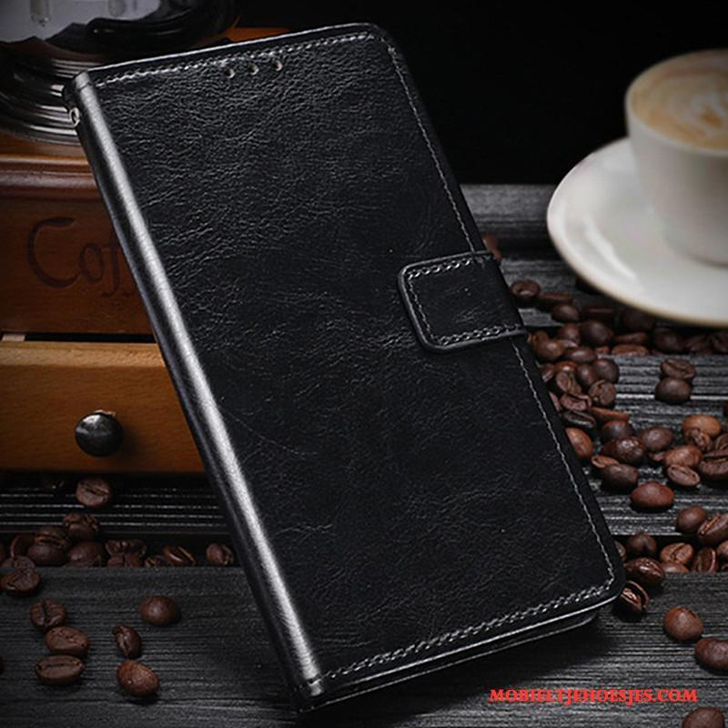 Lg X Power Folio Mobiele Telefoon Bescherming Hoesje Leren Etui Bruin