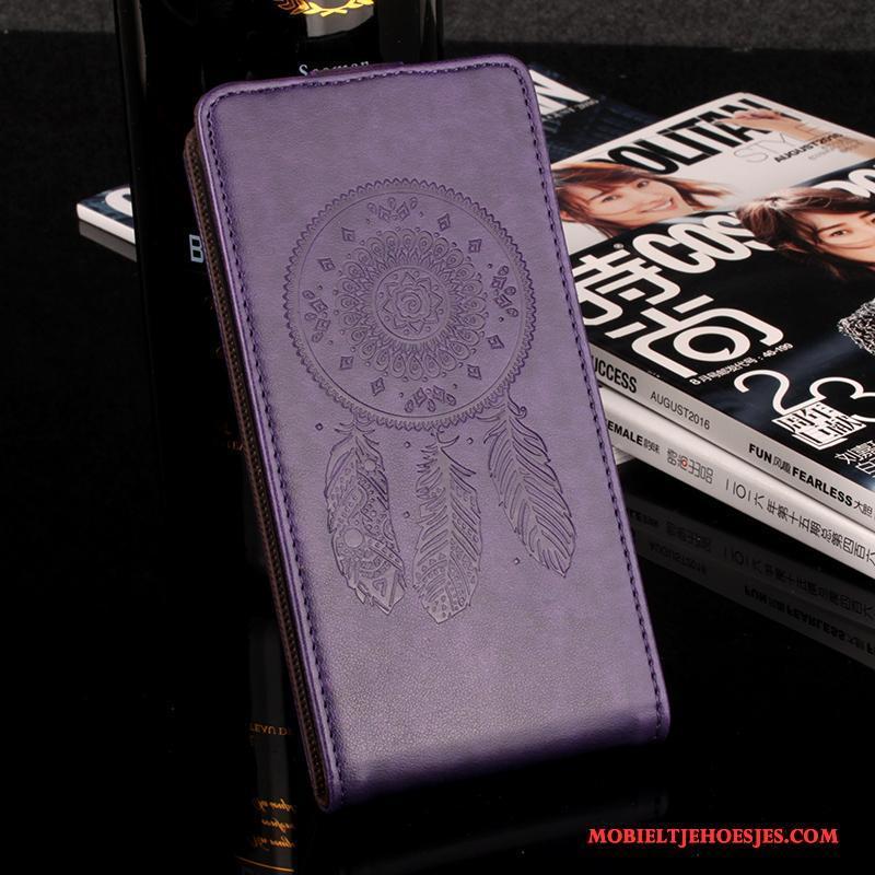 Lg X Power Hoesje Bescherming Patroon Mobiele Telefoon Anti-fall Leren Etui Wind Geel