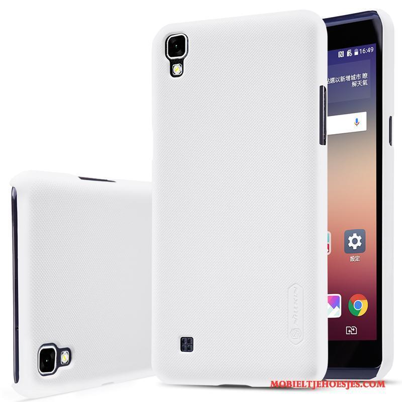 Lg X Power Schrobben Mobiele Telefoon Bescherming Wit Hoes Hard Hoesje Telefoon