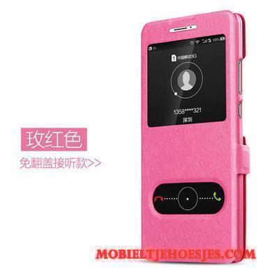 Moto Z2 Play Mobiele Telefoon Folio Bescherming Hoesje Telefoon Leren Etui Goud