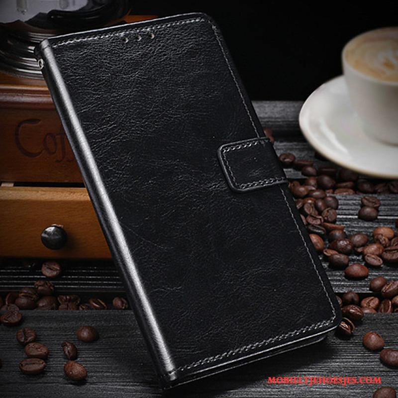 Nokia 3 Rood Portemonnee Hoesje Telefoon Ondersteuning Kaart Bescherming Mobiele Telefoon