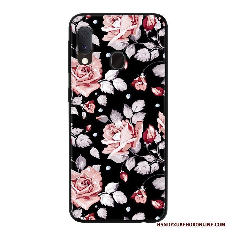Samsung Galaxy A20e Persoonlijk Gazen Bescherming Anti-fall Rood Ster Hoesje Telefoon
