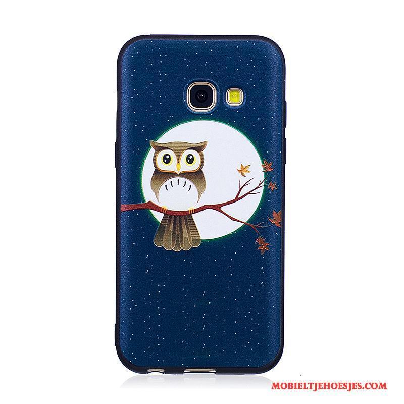 Samsung Galaxy A3 2017 Bescherming Hoesje Telefoon Geschilderd Trend Ster Spotprent Zacht