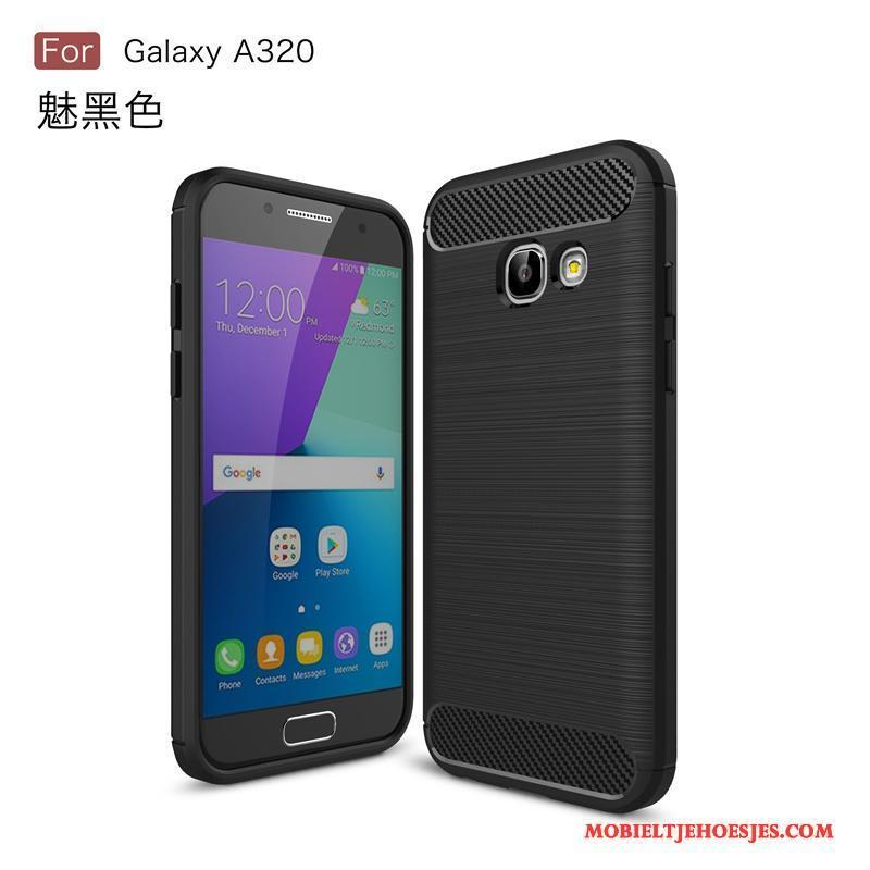 Samsung Galaxy A3 2017 Blauw Hoes Mobiele Telefoon Hard Hoesje Zacht Ster