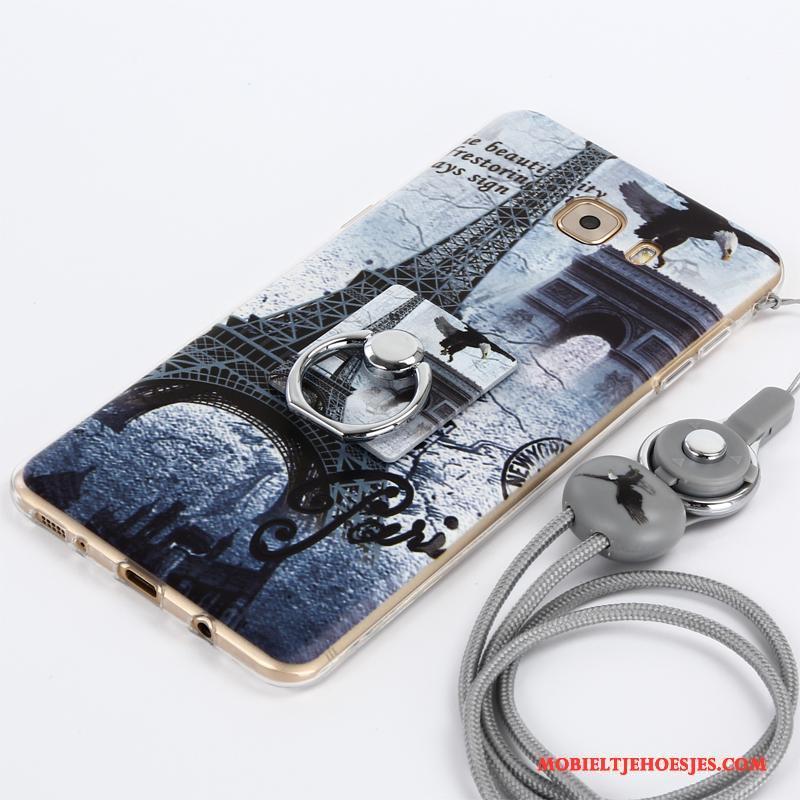 Samsung Galaxy A3 2017 Hoesje Telefoon Bescherming Ster Anti-fall Mobiele Telefoon Purper Hanger