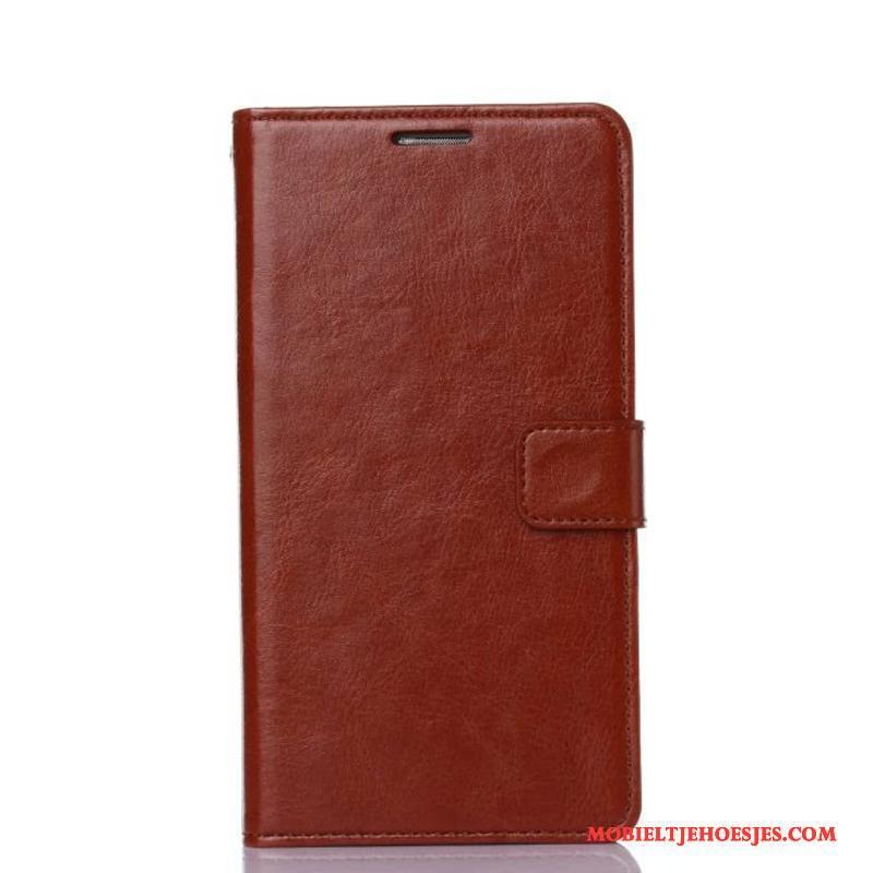 Samsung Galaxy A3 2017 Leren Etui Bescherming Ster Hoes Rood Folio Hoesje Telefoon