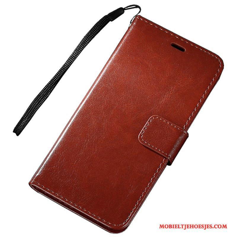 Samsung Galaxy A3 2017 Mobiele Telefoon Hoesje Telefoon Ster Leren Etui Zwart Bescherming Folio