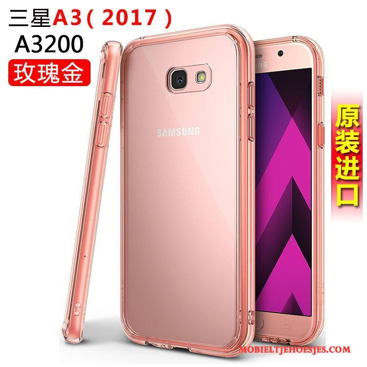 Samsung Galaxy A3 2017 Ster Anti-fall Hoes Hoesje Telefoon Siliconen Wit Bescherming