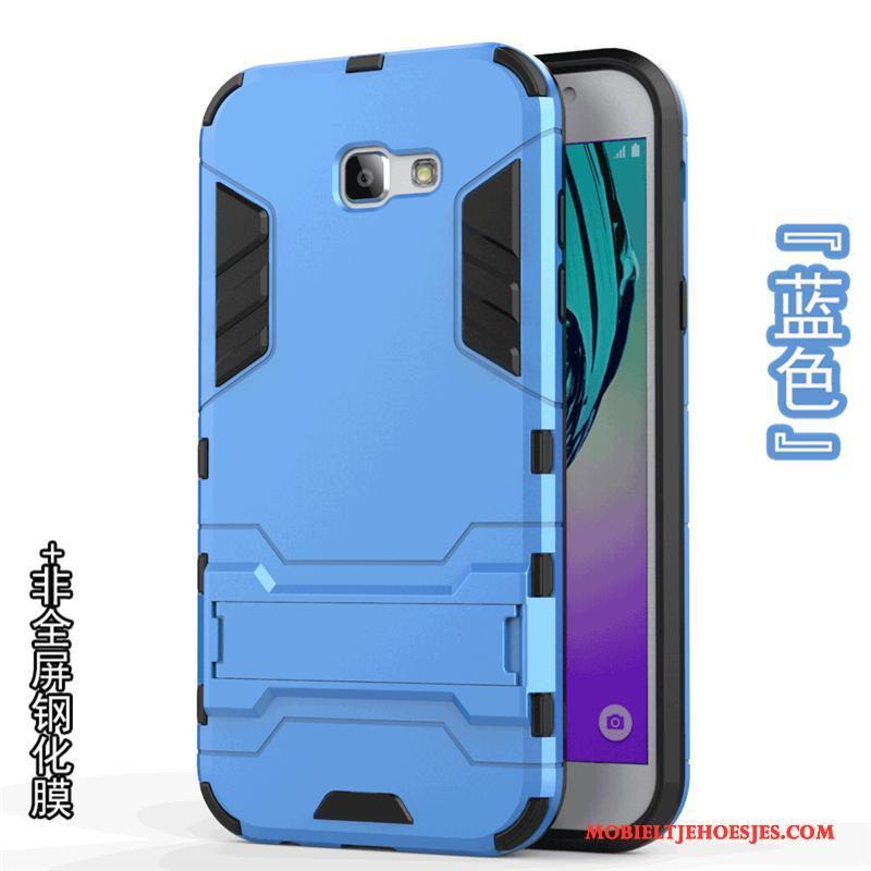 Samsung Galaxy A3 2017 Zacht Ster Hard Grijs Hoesje Telefoon Bescherming