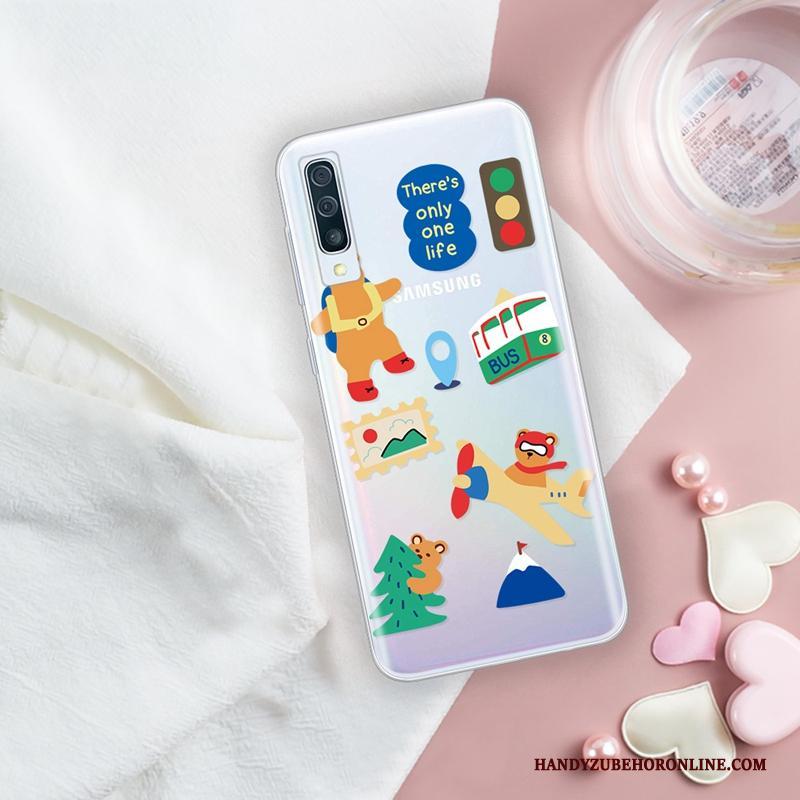 Samsung Galaxy A50s Ster Hoesje Persoonlijk Patroon Doorzichtig Scheppend All Inclusive
