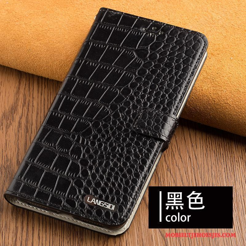 Samsung Galaxy A7 2017 Hanger Hoesje Telefoon Pas Anti-fall Ster Bedrijf Echt Leer