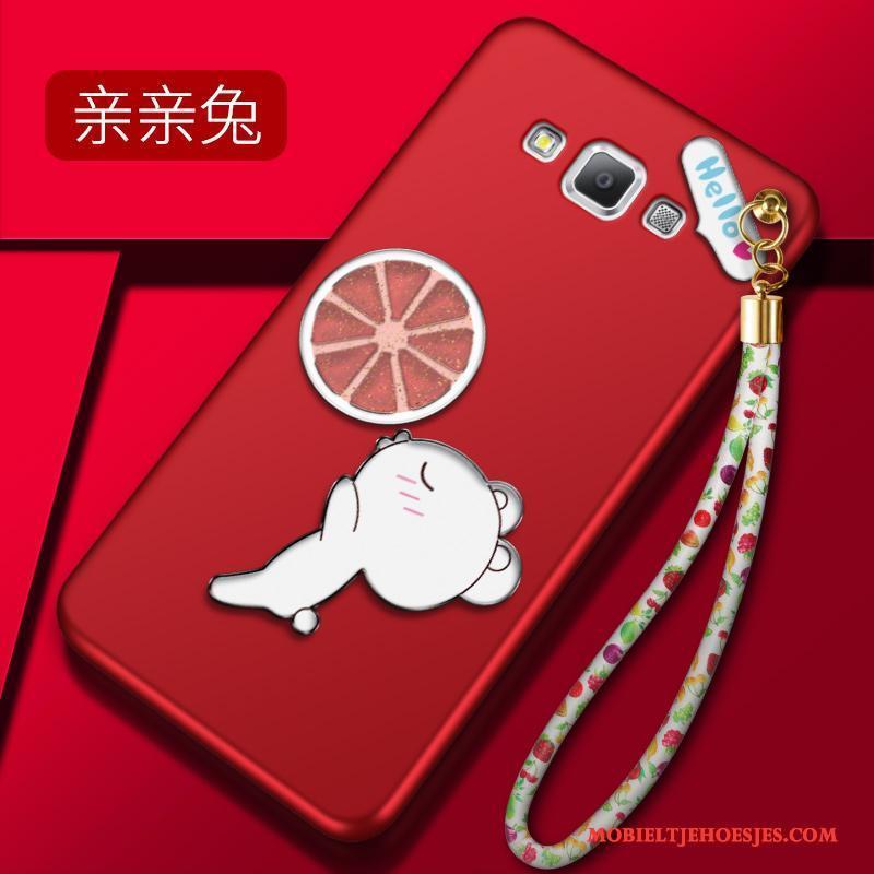 Samsung Galaxy A8 All Inclusive Hoesje Telefoon Groen Bescherming Dun Ster Zacht