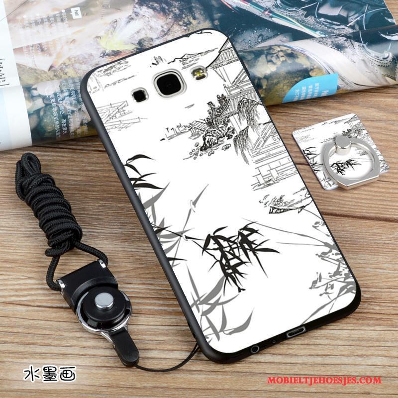 Samsung Galaxy A8 Europa Zwart Schrobben Hoesje Telefoon Blauw Zacht Ster