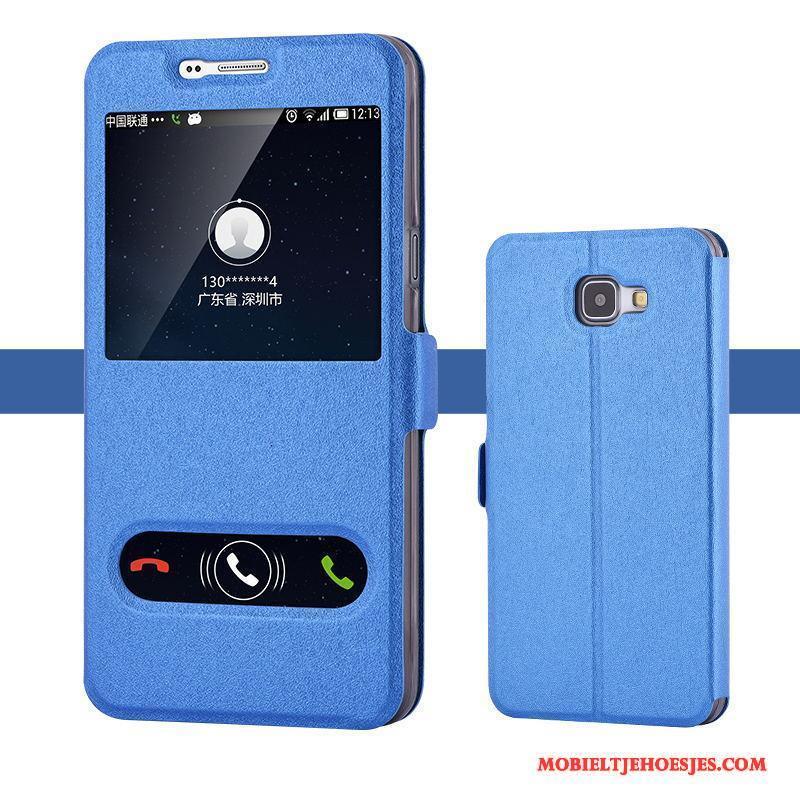 Samsung Galaxy A9 Hoesje Telefoon Ster Blauw Trend Zacht Dun Bescherming