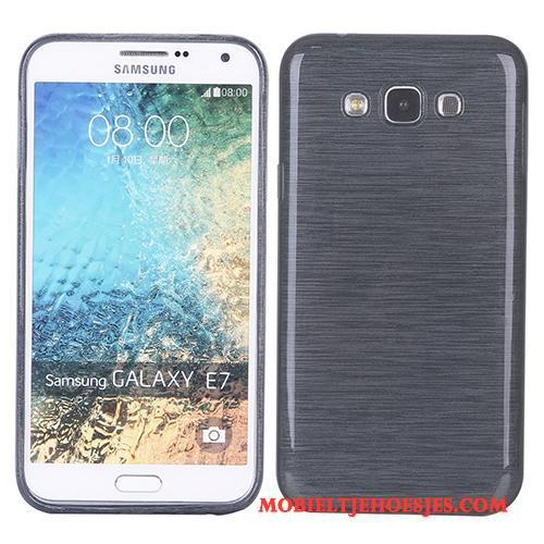 Samsung Galaxy J7 2015 All Inclusive Ster Hoesje Telefoon Rood Zacht Siliconen Zijde
