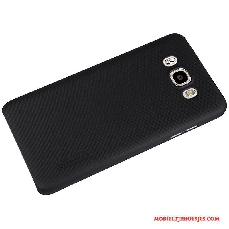 Samsung Galaxy J7 2016 Wit Hoesje Telefoon Plastic Bescherming Hard Schrobben Eenvoudige