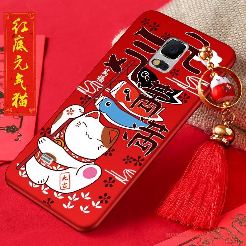 Samsung Galaxy Note 4 Hoes Bescherming Hoesje Telefoon Rood Rijkdom Nieuw Anti-fall