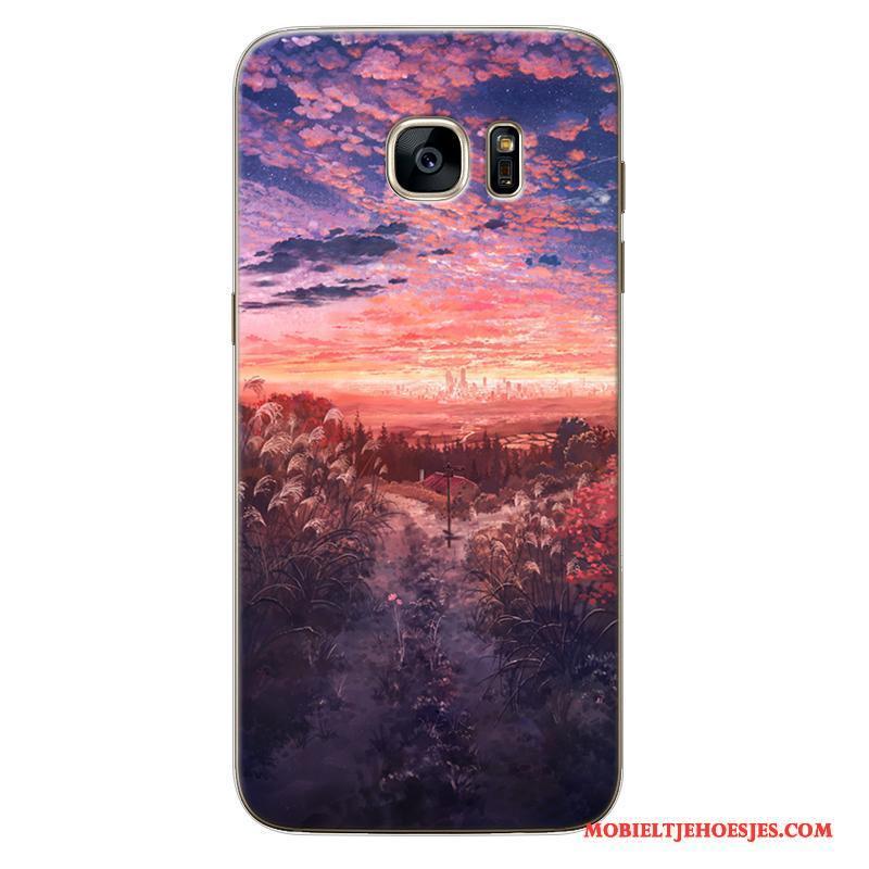 Samsung Galaxy Note 5 All Inclusive Geschilderd Hoesje Telefoon Europa Anti-fall Pas Siliconen