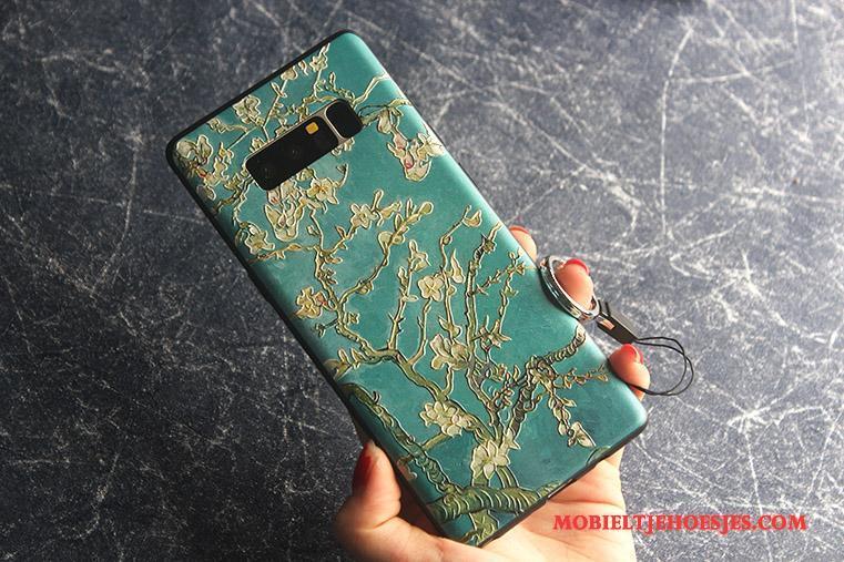 Samsung Galaxy Note 8 Anti-fall Dun Hemming Bescherming Ster Hoesje Telefoon Groen