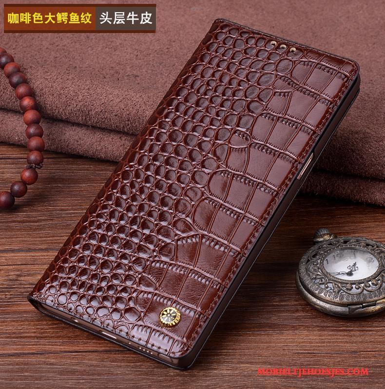 Samsung Galaxy Note 8 Echt Leer Leren Etui Ster Hoesje Telefoon Bescherming Mobiele Telefoon Zwart