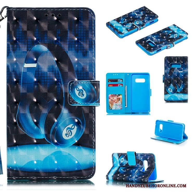 Samsung Galaxy S10 Groen Hoesje Telefoon Leren Etui Folio Trend Ster