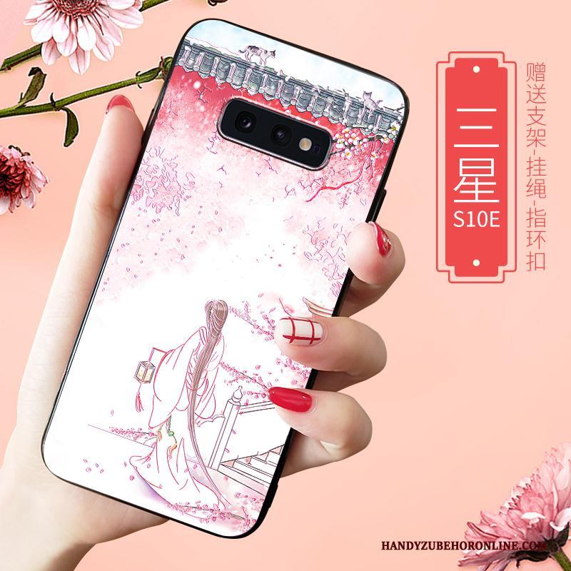 Samsung Galaxy S10e Schrobben Wit Hoesje Telefoon Trendy Merk High End All Inclusive Zacht