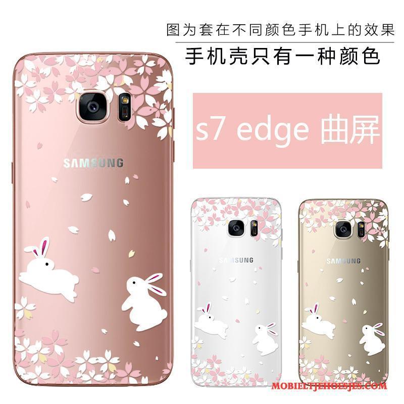 Samsung Galaxy S7 Edge Hoesje Telefoon Siliconen Nieuw Zacht Reliëf Ster Schoonheid