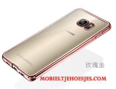 Samsung Galaxy S7 Edge Zacht Goud Siliconen Ster Hoesje Bescherming Mesh