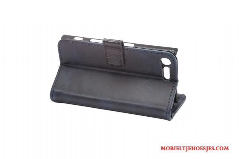 Sony Xperia X Compact Folio Kaart Leren Etui Hoes Hoesje Telefoon Bedrijf Bescherming