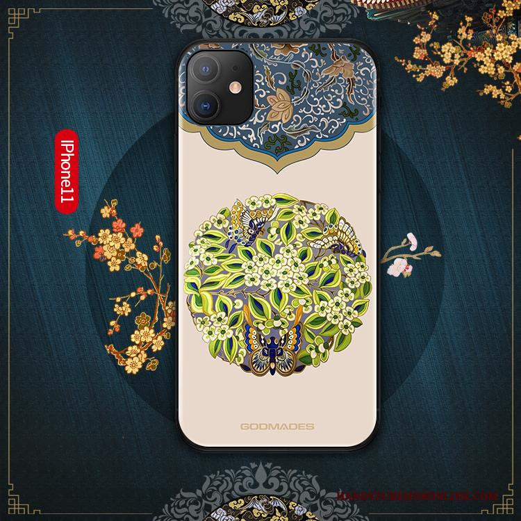 iPhone 11 Hoesje Net Red Trend Chinese Stijl Anti-fall Hoes Scheppend Groen