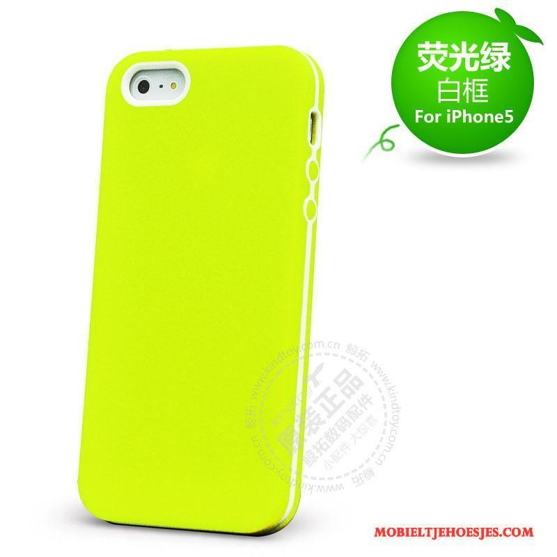 iPhone 5/5s Hoes Bescherming Anti-fall Hoesje Telefoon Siliconen Rood