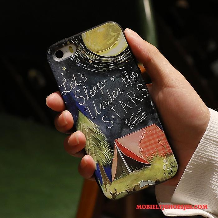 iPhone 5/5s Hoesje Telefoon All Inclusive Trend Siliconen Zacht Scheppend