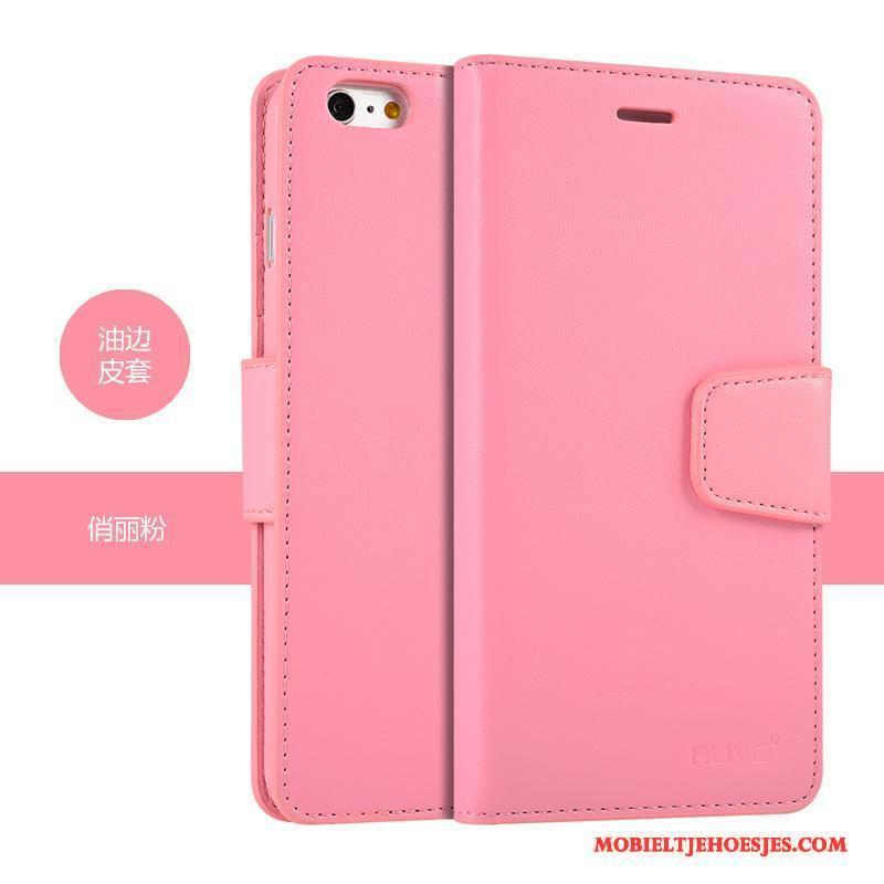 iPhone 6/6s Anti-fall Hoesje Telefoon Zacht Siliconen Leren Etui Purper Bescherming