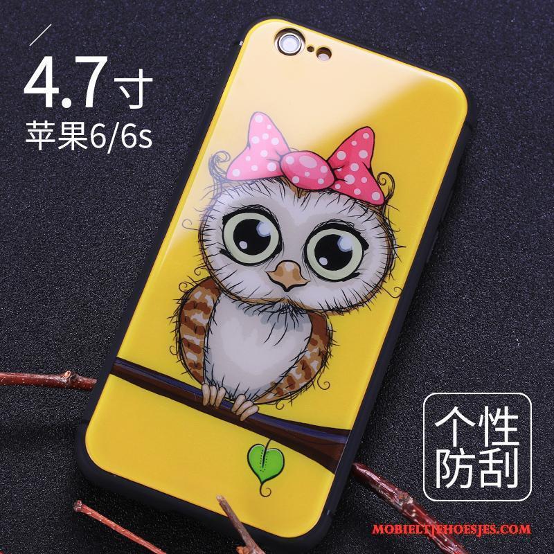 iPhone 6/6s Hard Anti-fall Hoes Bescherming Hoesje Zwart Achterklep