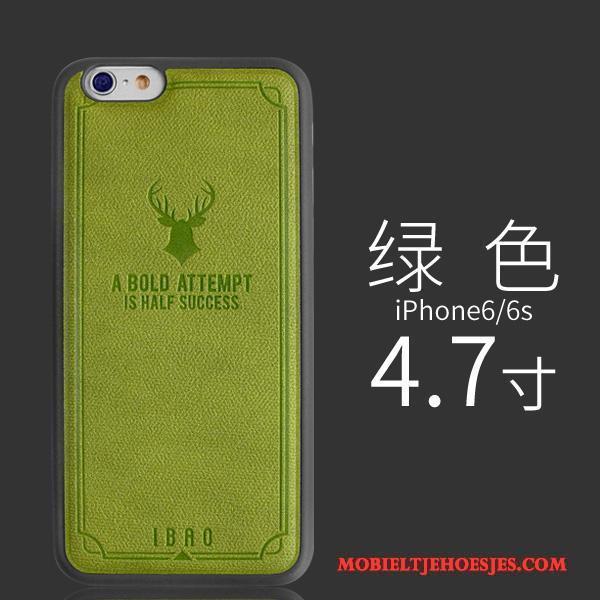 iPhone 6/6s Plus Hoesje Leren Etui Kwaliteit Hanger Trend Europa Leer Zacht