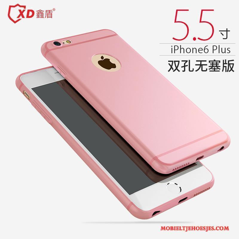 iPhone 6/6s Plus Siliconen Eenvoudige Geel Hoesje Telefoon All Inclusive Anti-fall Zacht