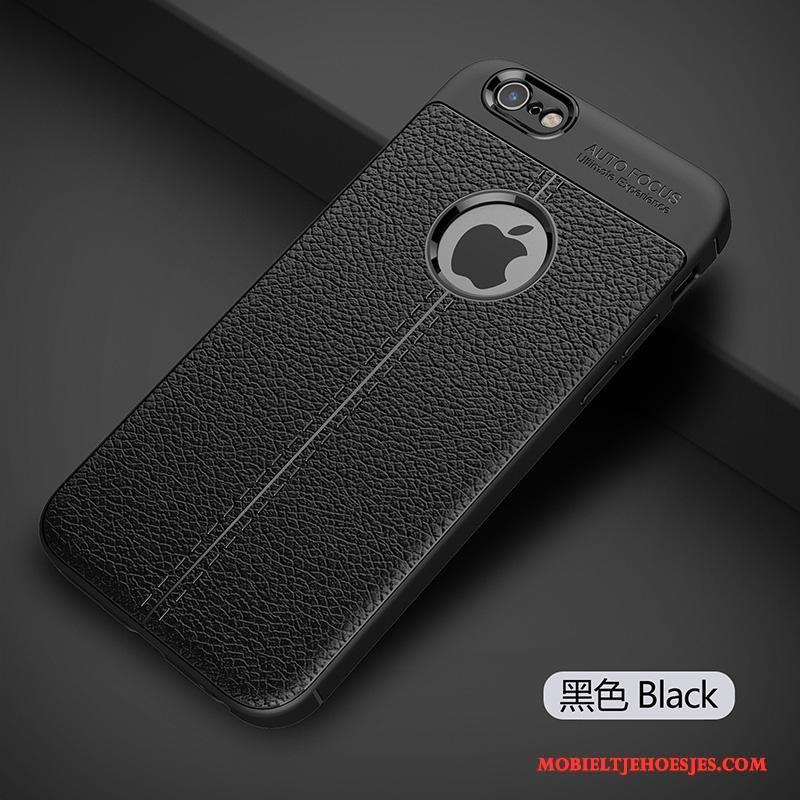 iPhone 6/6s Siliconen Nieuw Zwart Hoes Hoesje Telefoon Trend Bescherming