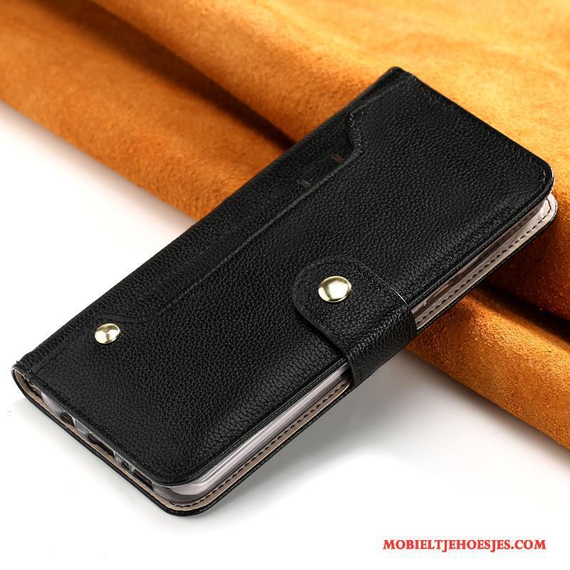 iPhone 7 Plus All Inclusive Goud Anti-fall Leren Etui Folio Bruin Hoesje Telefoon