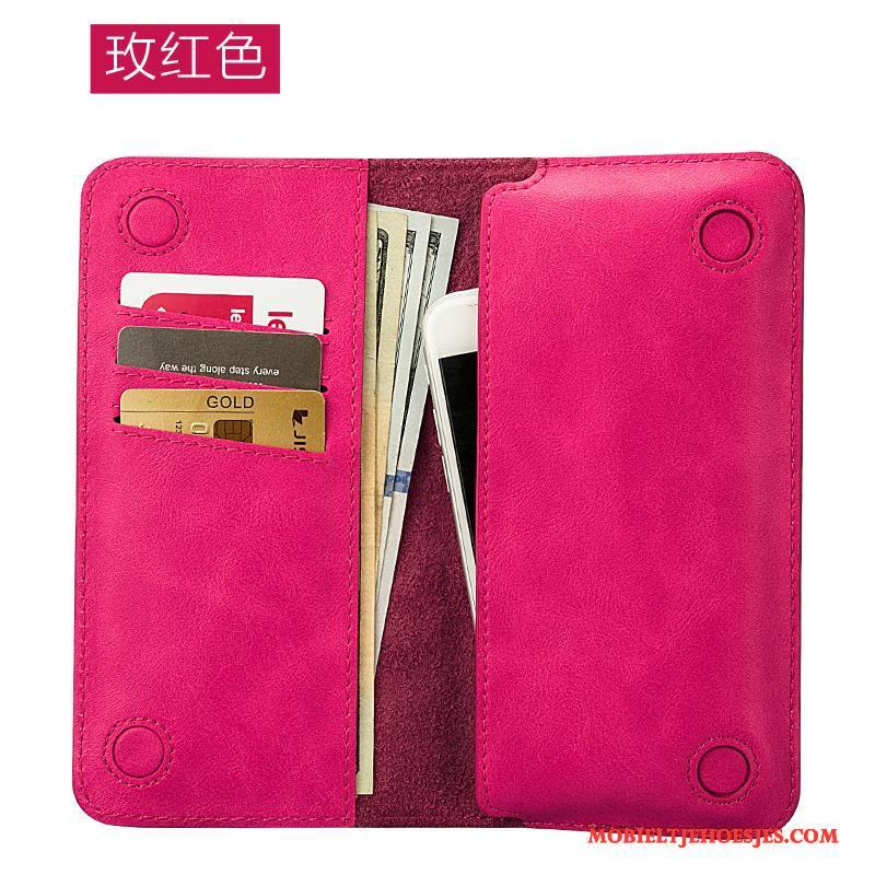 iPhone 7 Plus Leren Etui Hoesje Telefoon Nieuw Portemonnee Gemeenschappelijk Rood Bescherming