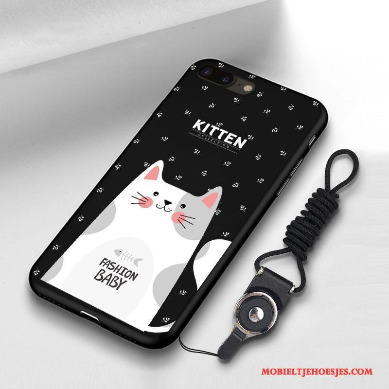 iPhone 8 Hoes Anti-fall Lovers Siliconen Rood Trendy Merk Hoesje Telefoon