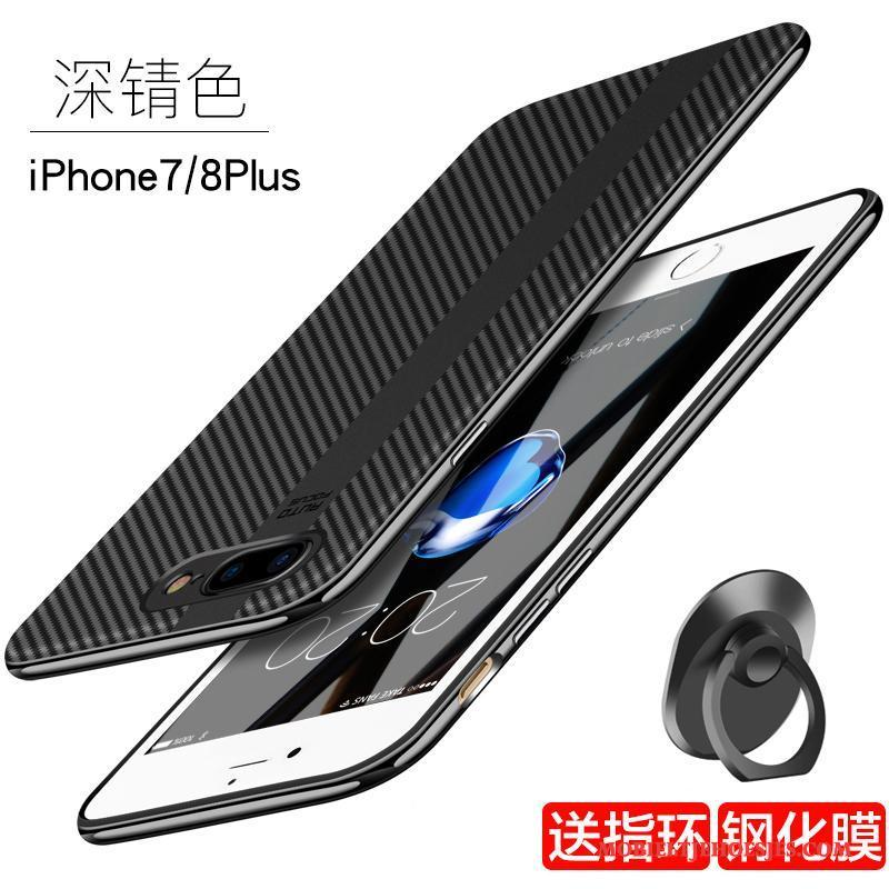 iPhone 8 Plus Anti-fall Trendy Merk Hoes Scheppend Rood Hoesje Telefoon Blauw