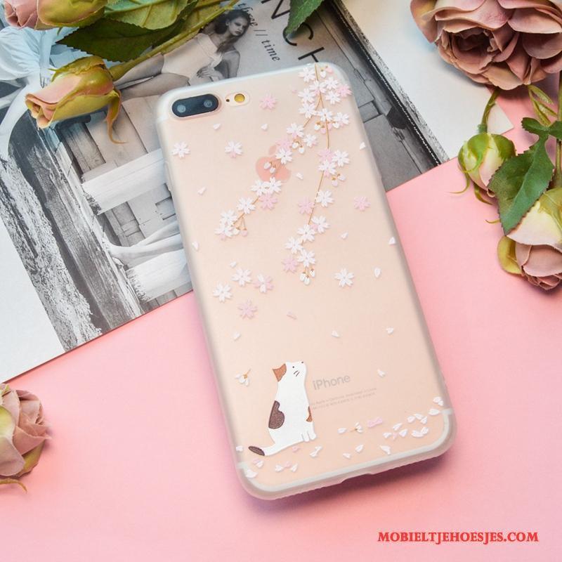 iPhone 8 Plus Patroon Schrobben Lovers Kleur Hoesje Zacht Telefoon