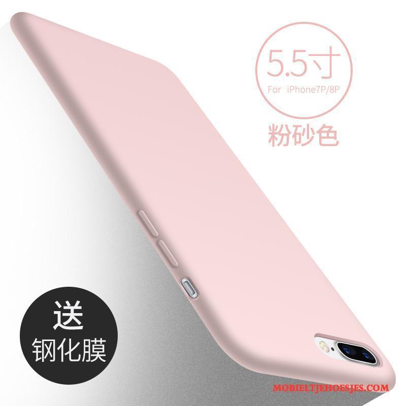 iPhone 8 Plus Siliconen Nieuw Hoesje Telefoon Zwart Bescherming Anti-fall Zacht