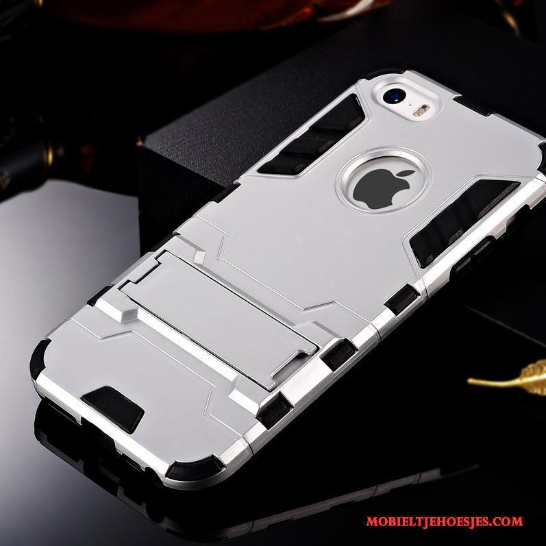 iPhone Se Anti-fall Edelsteen Hoesje Siliconen Telefoon Blauw Schrobben