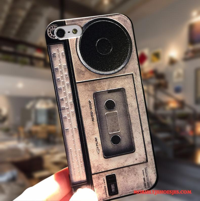 iPhone Se Eenvoudige Hoesje Telefoon Geel Anti-fall Siliconen Schrobben Bescherming