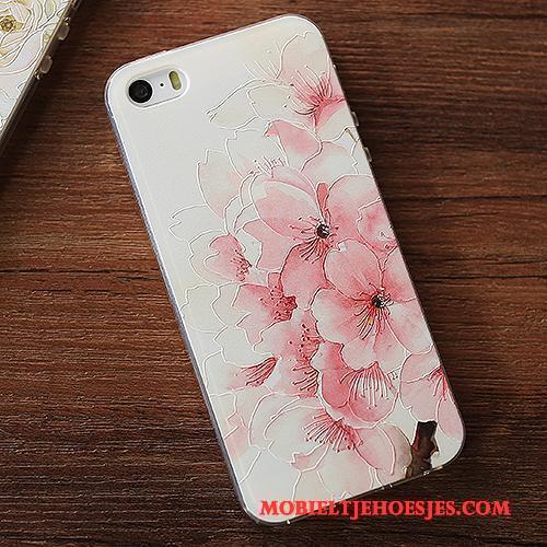 iPhone Se Hanger Geel Zacht Hoesje Telefoon Bescherming Siliconen